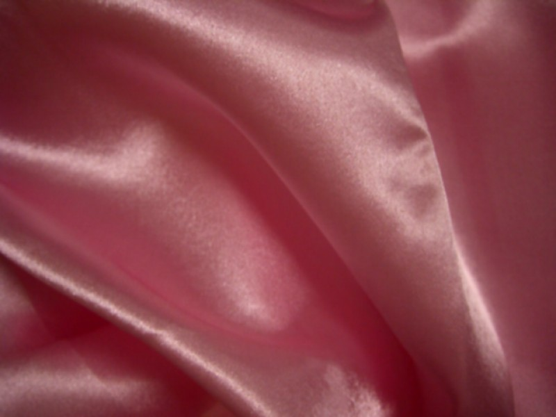 Satin Meterware rosa