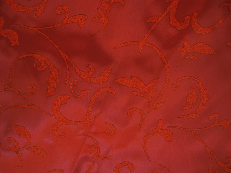 Satin GLITZER Ranken bordeaux