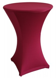 Stehtischhusse Stretch 60cm bordeaux